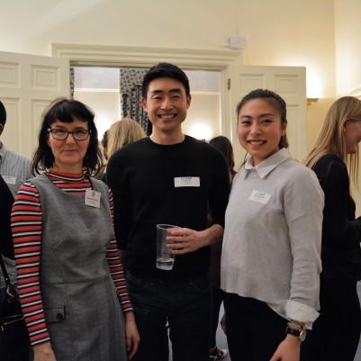 Students with Panellist Alexandra