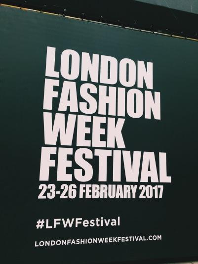 Fashion Week Festival signs