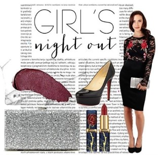 "Graphic showcasing a ""Girls Night Out"" look"