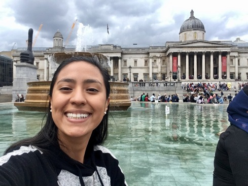 LSC intern at Trafalgar square