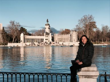 Parque de El Retiro in winter