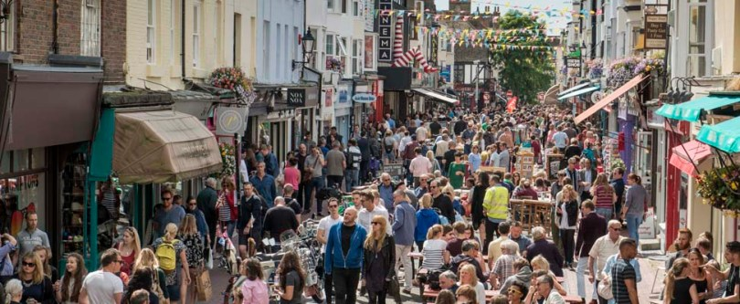 Shopping - Bustling Brighton North Laine - Credit Adam Bronkhorst.jpg